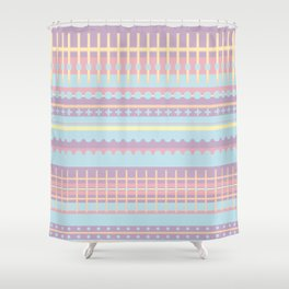 PPASTELL - Pastel, Pink, Lilac, Stripes, Nursery, Baby, Blue Shower Curtain