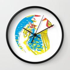 summer girl 2 Wall Clock