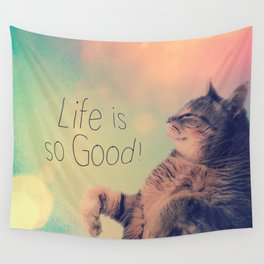 Dancing Kitty Cat Wall Tapestry