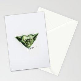 Yoda Star Wars Heart Art Stationery Cards