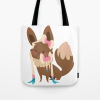 sylveon Tote Bags featuring Sylveon by Dani Tea