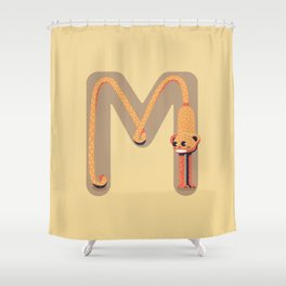 M for Monkey Shower Curtain