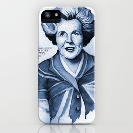 Margaret Thatcher My Way Quote iPhone Case