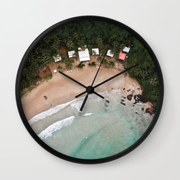 Tropical Summer Beach in The Philippines Wall Clock