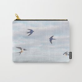 barn swallows, day lilies, and chicory Carry-All Pouch