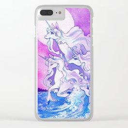 Unicorns of the Sea Clear iPhone Case