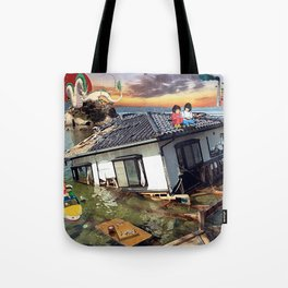 Beyond the Sea - Spirited Away / Ponyo Tsunami Series Tote Bag