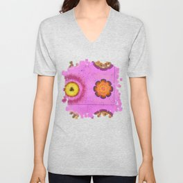 Verisimilitude Undraped Flowers  ID:16165-124635-29541 Unisex V-Neck