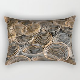 Black, white and orange spiraled coils Rectangular Pillow