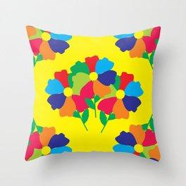 Floral Motives_08 by Victoria Deregus Throw Pillow