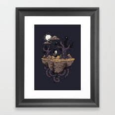 Dark Wood Framed Art Print