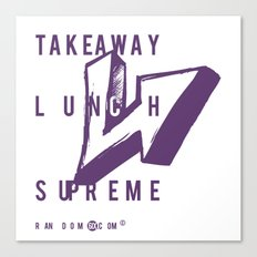 Takeaway Lunch Supreme Canvas Print