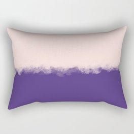 Modern purple blush pink watercolor colorblock Rectangular Pillow