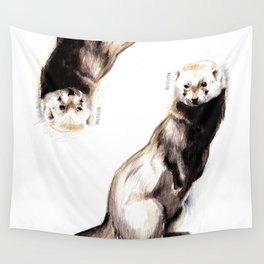 Steppen ferret (Mustela eversmanii) Wall Tapestry