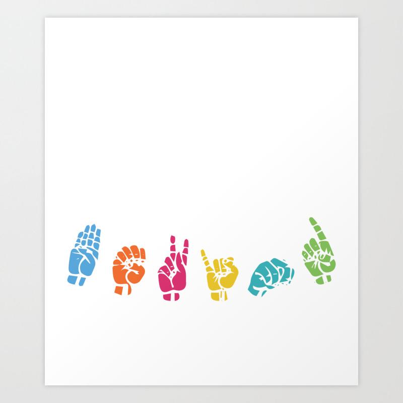 american sign language design fingerspelling asl quote graphic art