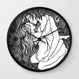 wrapped up in you Wall Clock