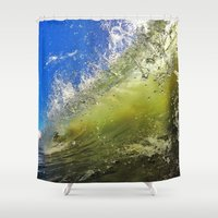 surf Shower Curtains featuring Surf by Nicklas Gustafsson