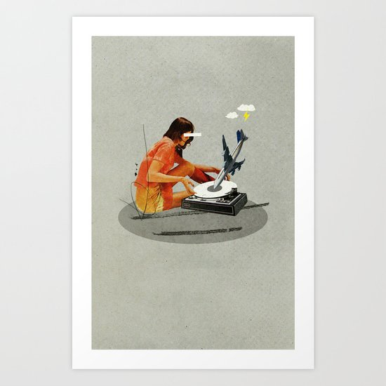 Blind, deaf too | Collage Art Print