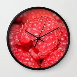 Red Raspberries Freshly Picked Wall Clock