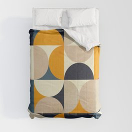mid century abstract shapes fall winter 1 Comforters