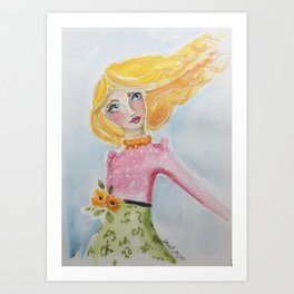 Polka Dot Love Art Print