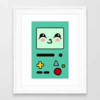 bmo Framed Art Prints featuring BMO by Janice Wong