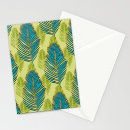 Large Palms - green Stationery Cards