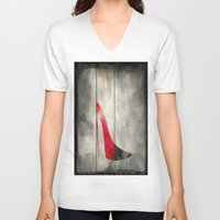 shoe V-neck T-shirts featuring Painted Shoe by V.L. Durand