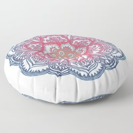 Radiant Medallion Doodle Floor Pillow