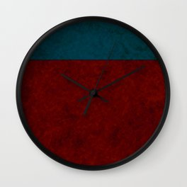 Blue and orange suede Wall Clock