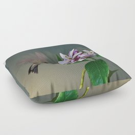 Lemon Tree and Hummingbird Floor Pillow