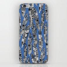 geo feathers blue iPhone & iPod Skin