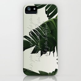 Can you remember who you were, before the world told you who you should be? iPhone Case