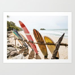 Surfing Day 2 Art Print