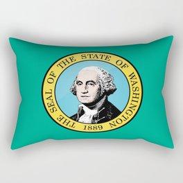 Washington State Flag Rectangular Pillow