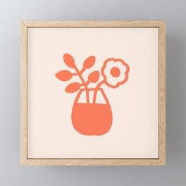 Flowers on the Table Framed Mini Art Print