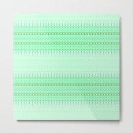 Mint Green Abstract XVI Metal Print