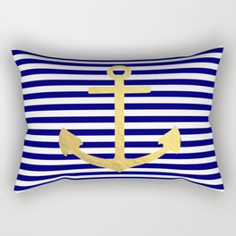 Gold Anchor Rectangular Pillow