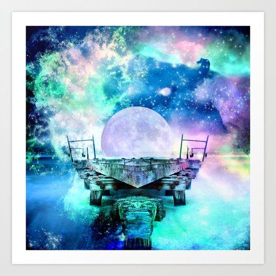 fantasy moon Art Print
