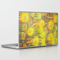 polka dot Laptop & iPad Skins featuring Polka Dot Jellyfish by mark jones