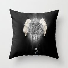 Angel of the chaos Throw Pillow