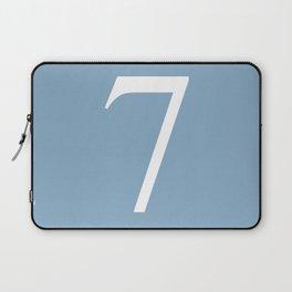 number seven sign on placid blue color background Laptop Sleeve