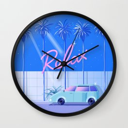 Relax (Blue) Wall Clock