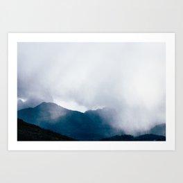 wandering the mist Art Print