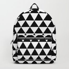 Black Triangle Pattern Backpack