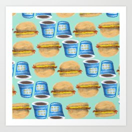 NYC Breakfast Art Print