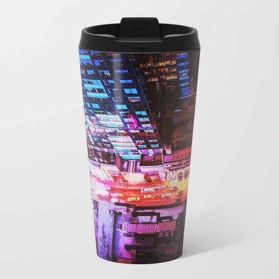 New York City Blade Runner Metal Travel Mug