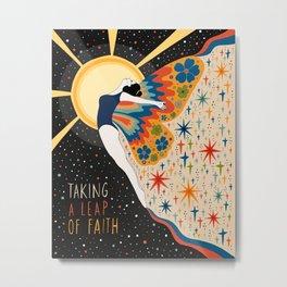 Taking a leap of faith Metal Print