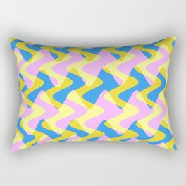 Crosswave Pink - Electron Series 003 Rectangular Pillow