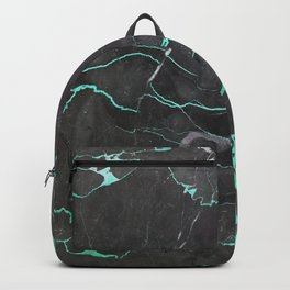 Grey and Blue Marble Backpack